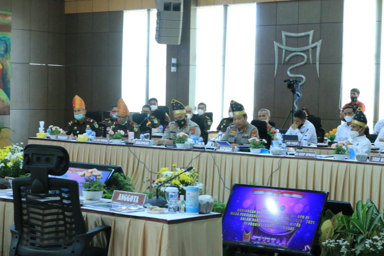 Polda Sumbar Terima Kunjungan Kerja Komisi III DPR RI