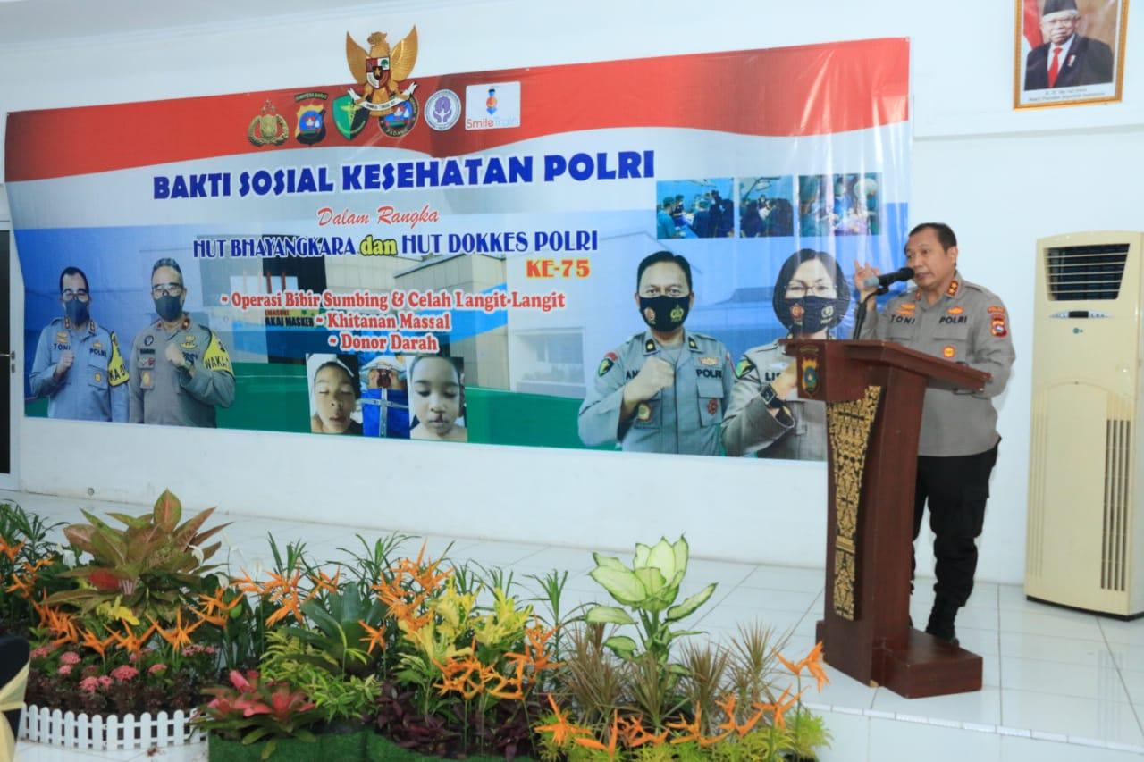 Sambut HUT Bhayangkara dan Dokkes Polri, Polda Sumbar Gelar Bakti Kesehatan